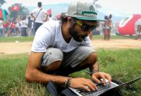 Brazilian journalists on protests record the actions of police in real-time