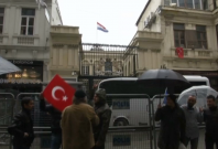 Man replaces Istanbul Dutch consulate's flag with Turkey's amid rising tensions
