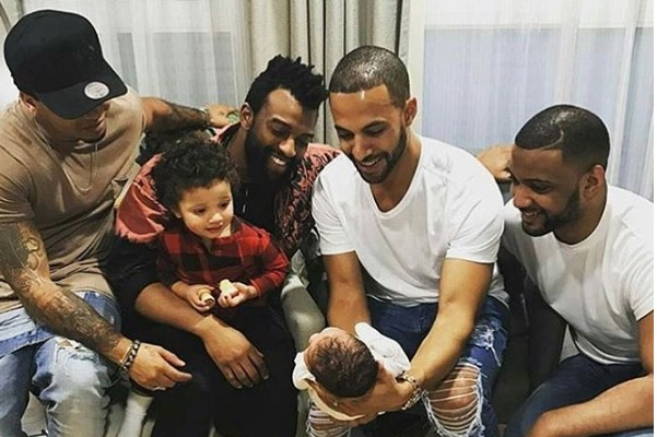 JLS reunited to meet Marvin Humes' daughter