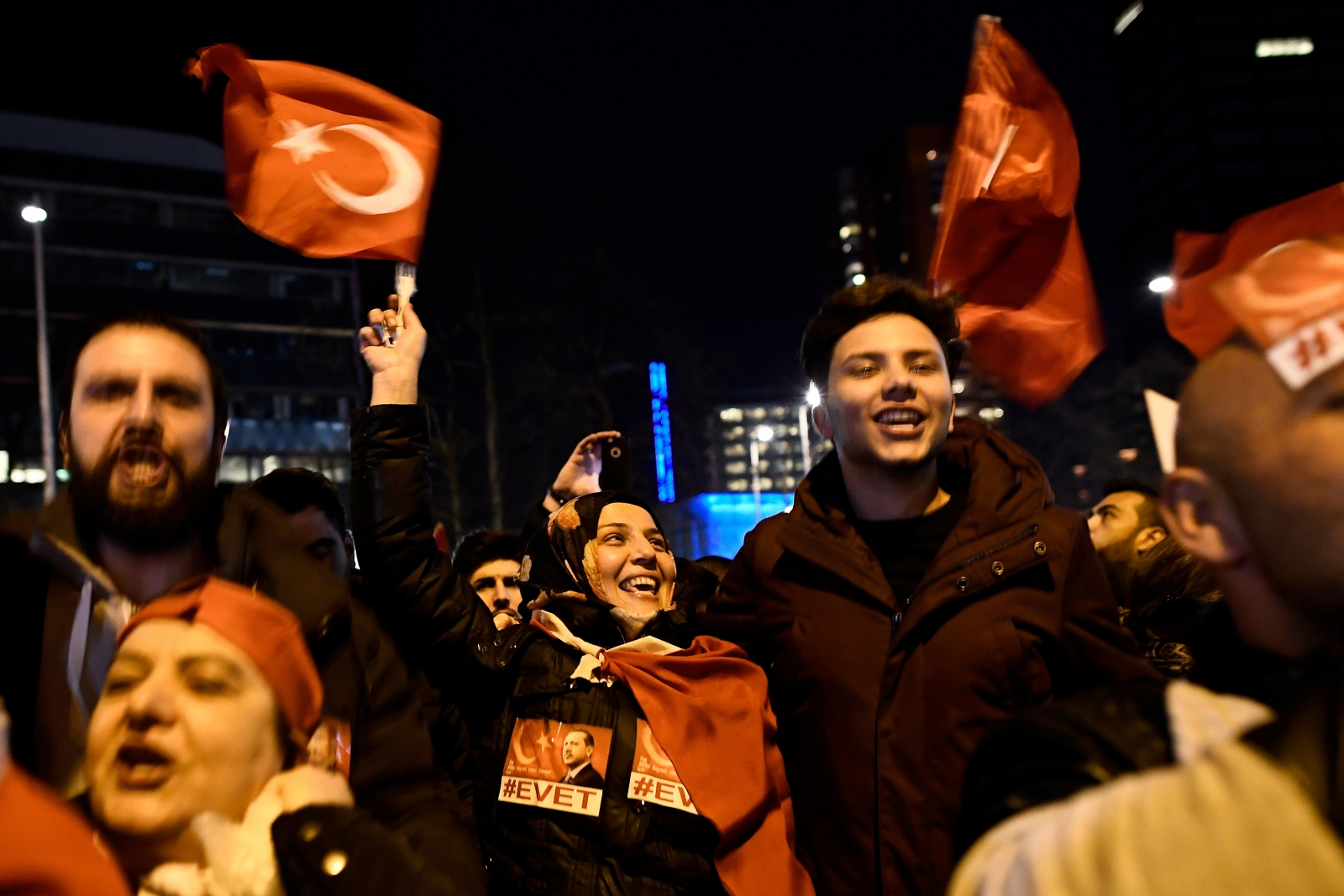 Turkish protestors