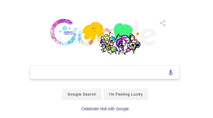 Google doodle Holi 2017