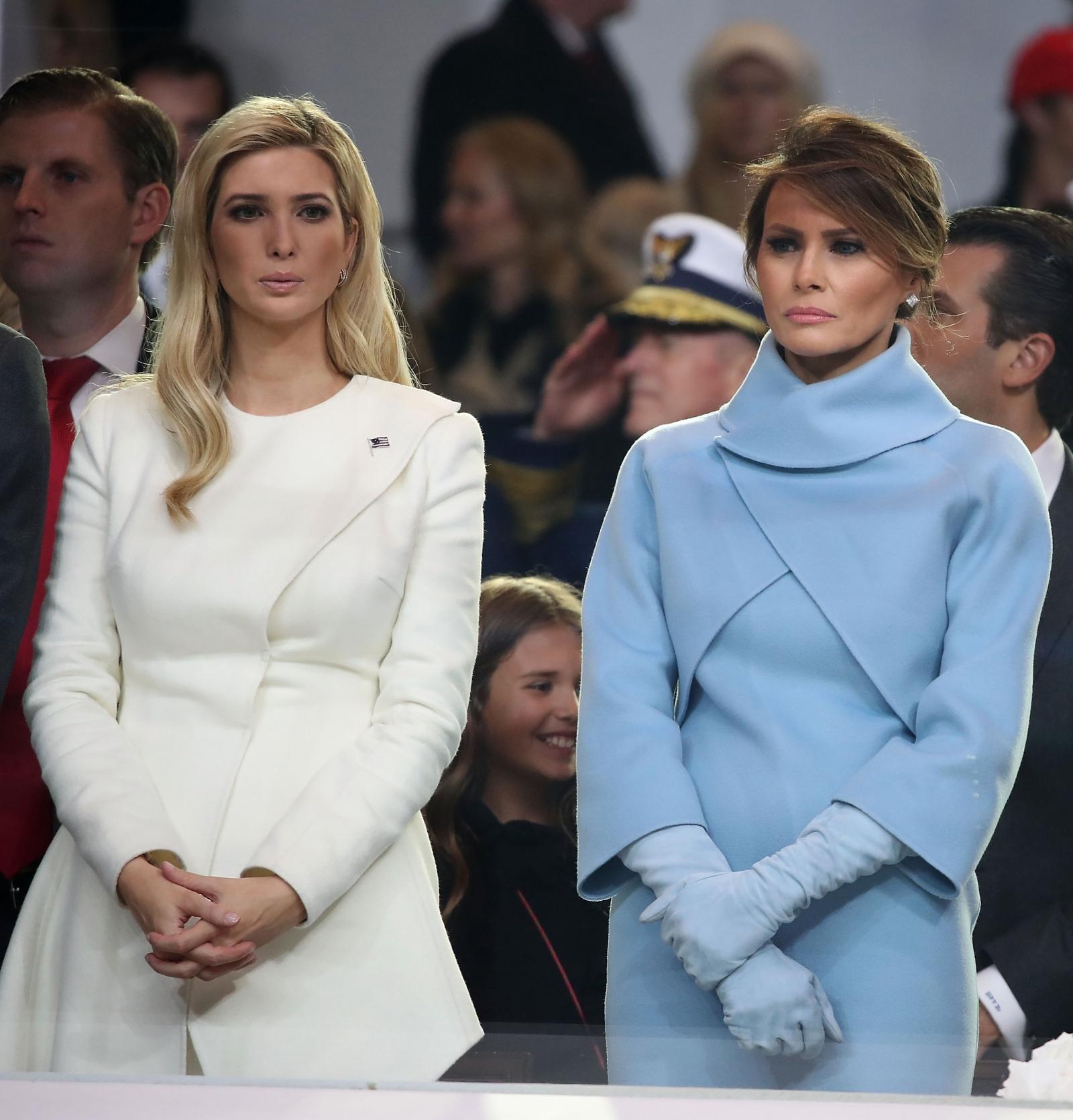 First Lady Melania Trump and Ivanka Trump
