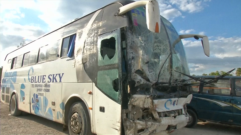 At least 38 people killed after bus ploughs into rara parade in Haiti