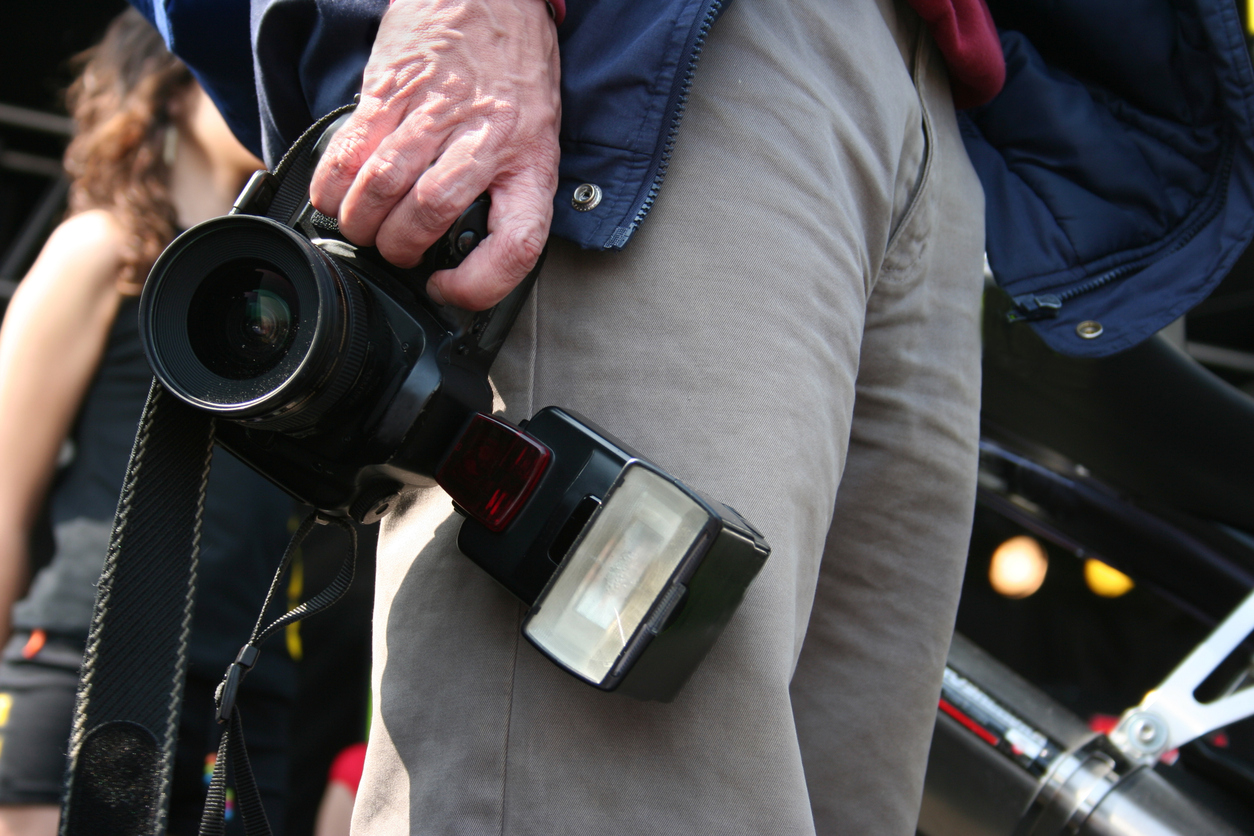 A press photographer