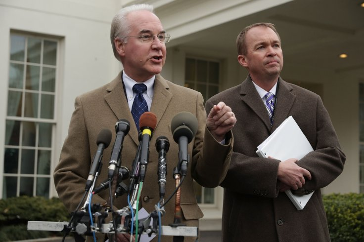 Tom Price and Mick Mulvaney speak