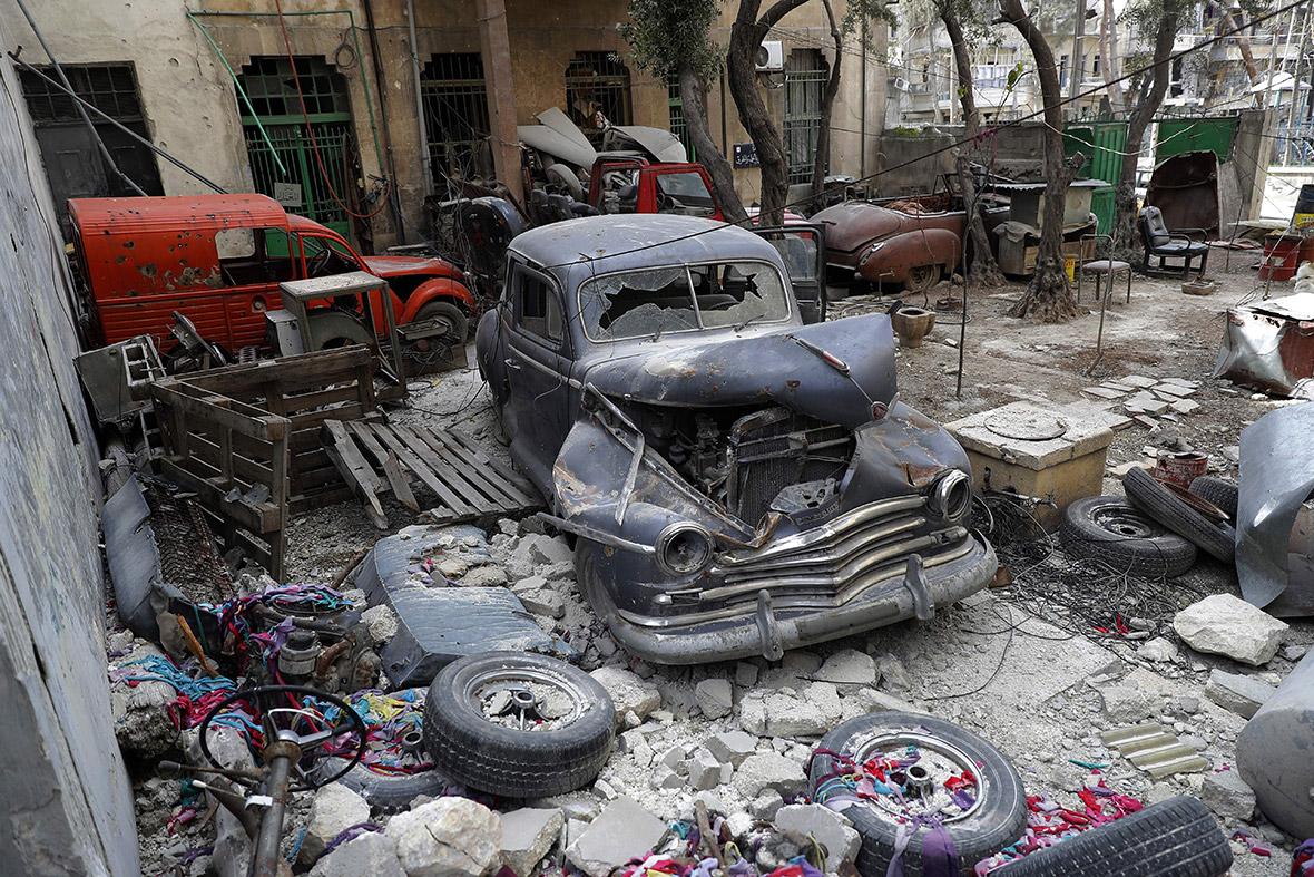 classic car collection Aleppo Syria