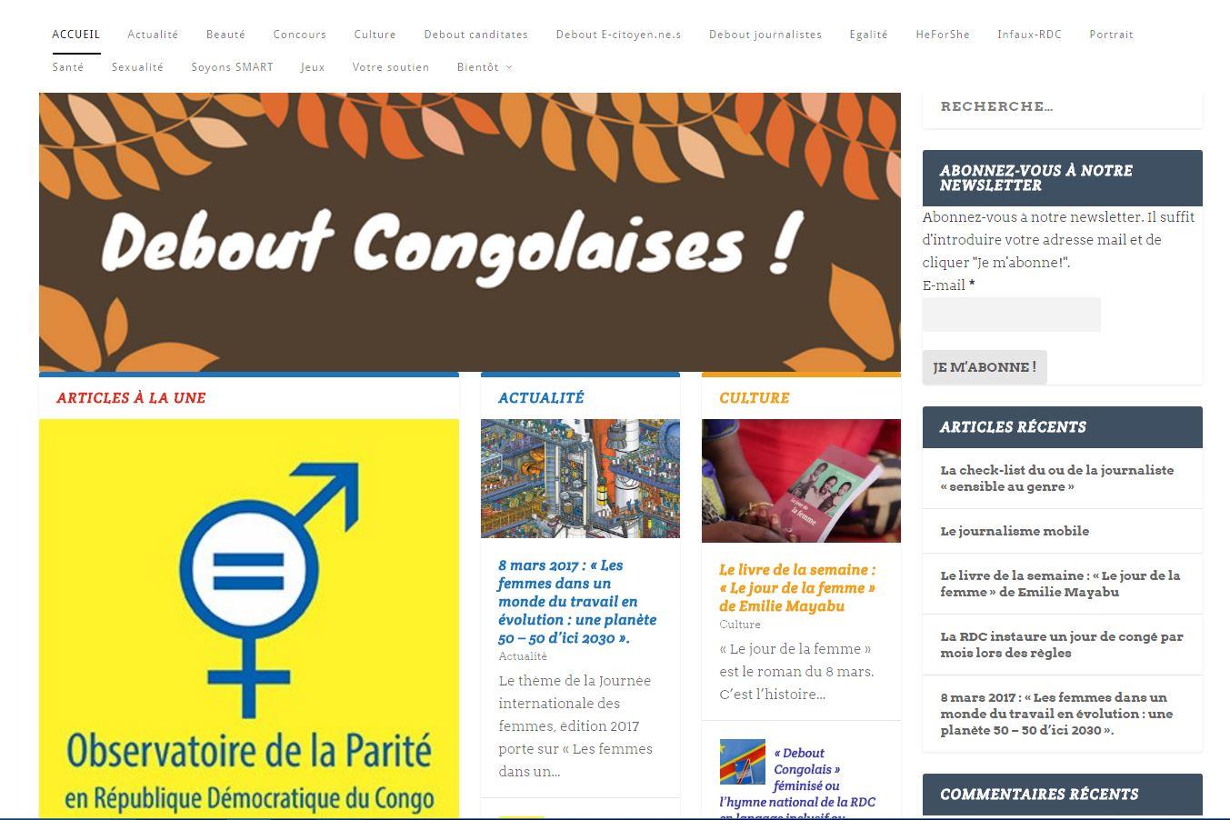 Debout Congolaises! web magazine