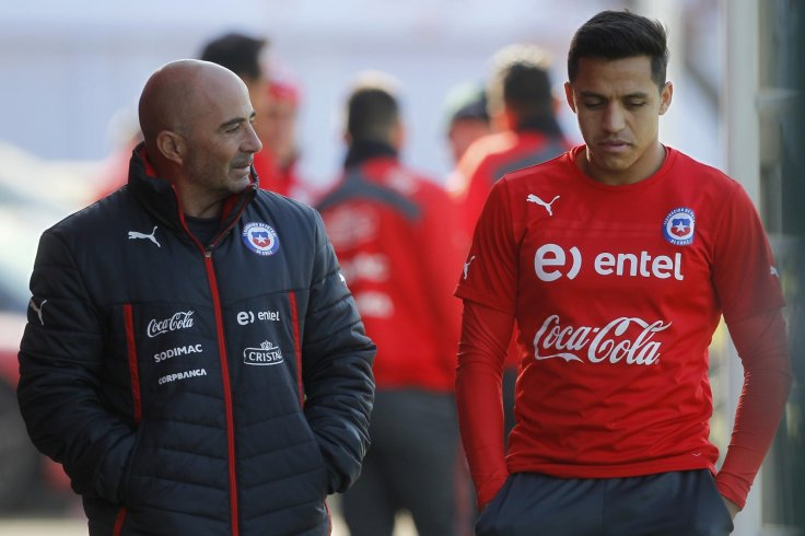 Jorge Sampaoli and Alexis Sanchez
