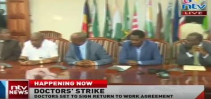 Doctors sign 'return to work deal'