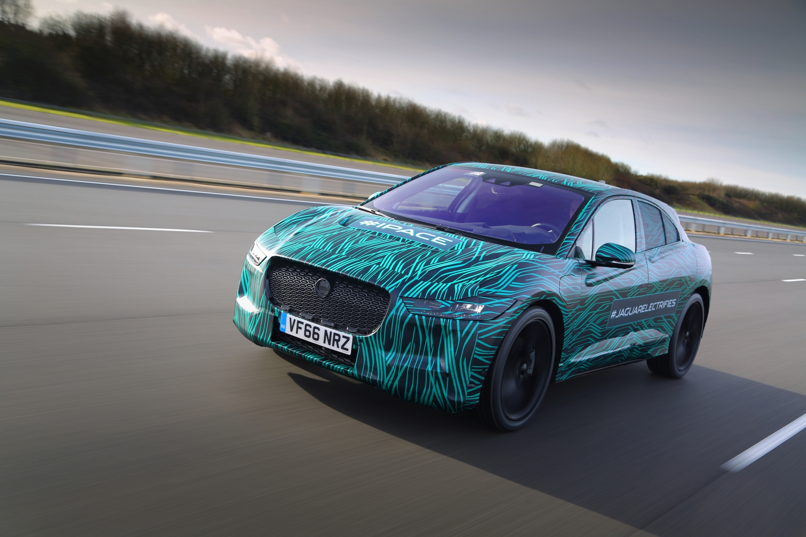 Jaguar I-Pace production car testing