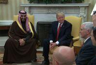 President Trump Meets With Saudi Arabian Deputy Crown Prince