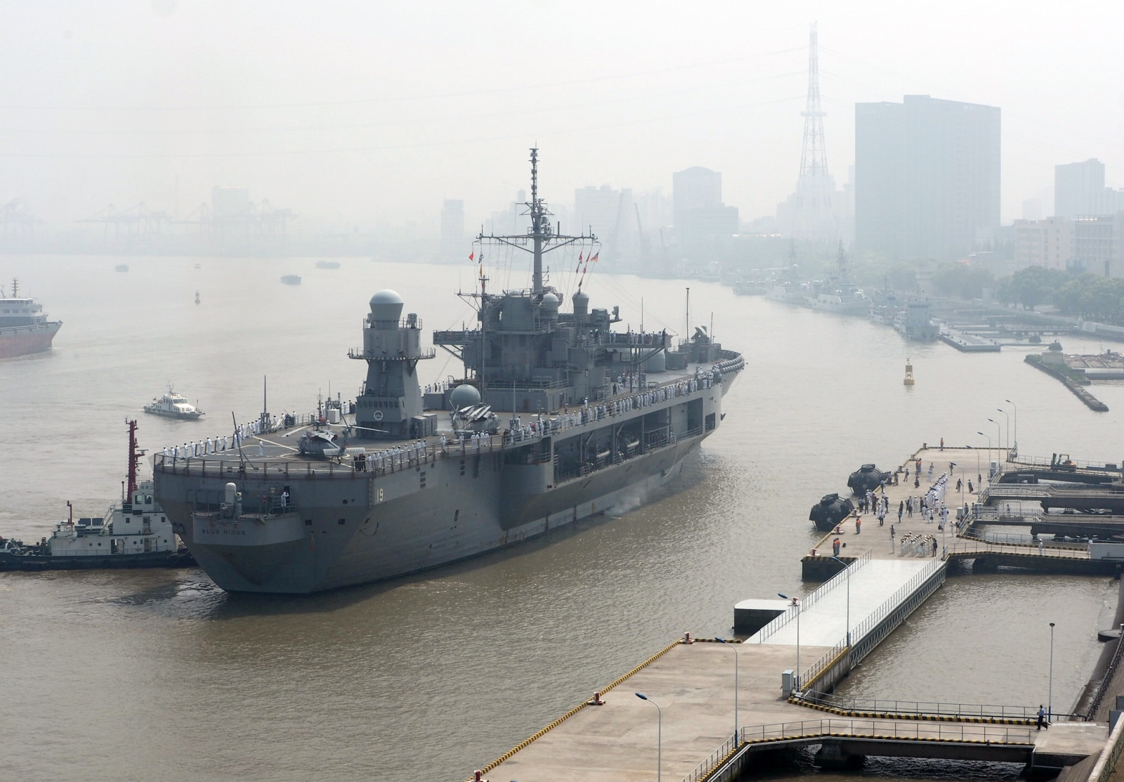USS Blue Ridge in Shanghai