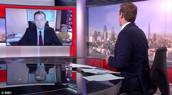 professor robert kelly BBC interview
