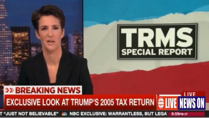 Rachel Maddow Claps Back At White House's 'Totally Illegal' Claim After Trump's 2005 Tax Return Release
