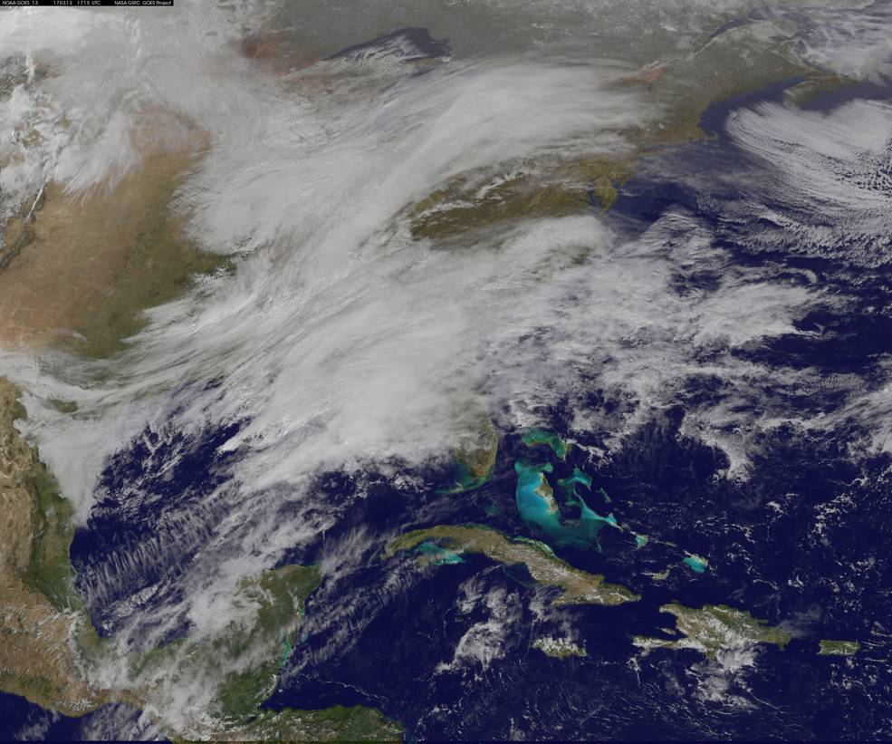 Nasa satellites capture winter storm Stella