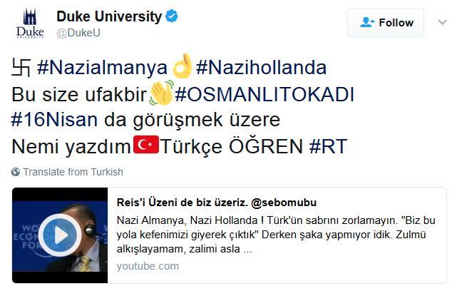 Duke University Twitter