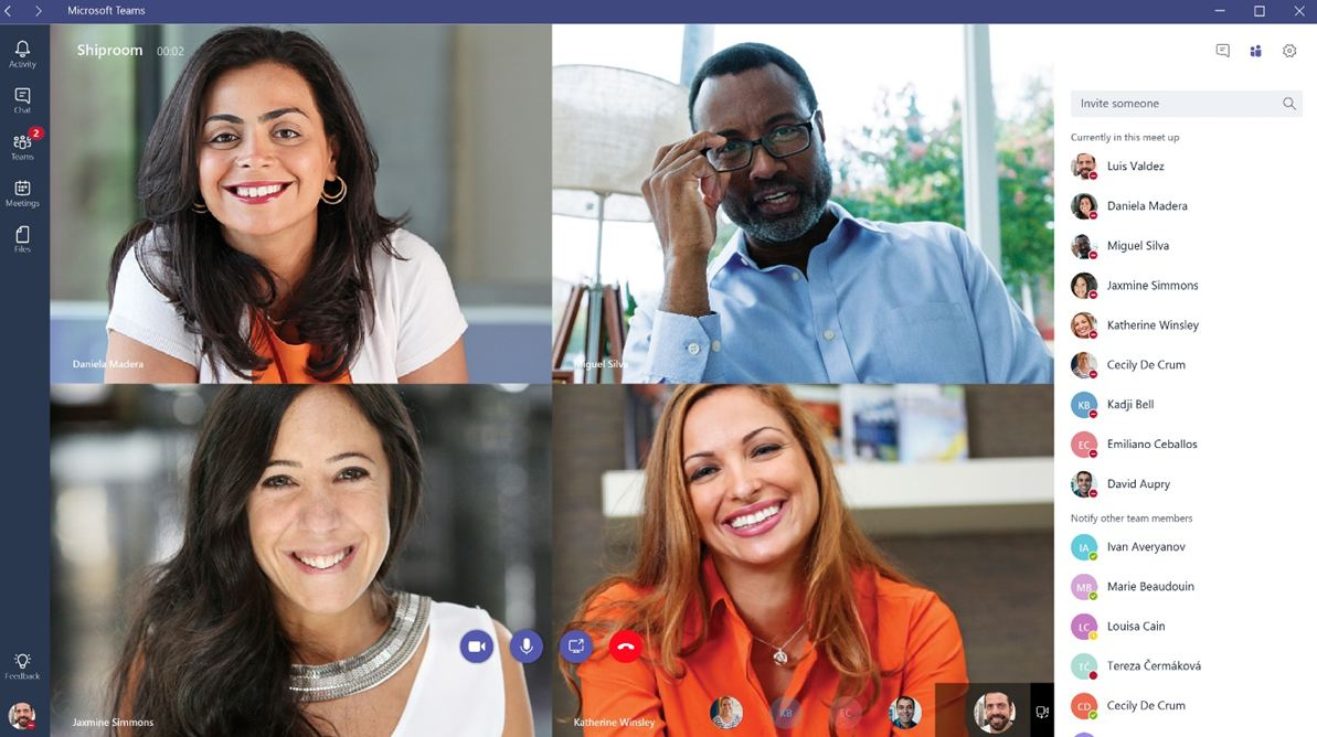 Microsoft Teams available for Office 365