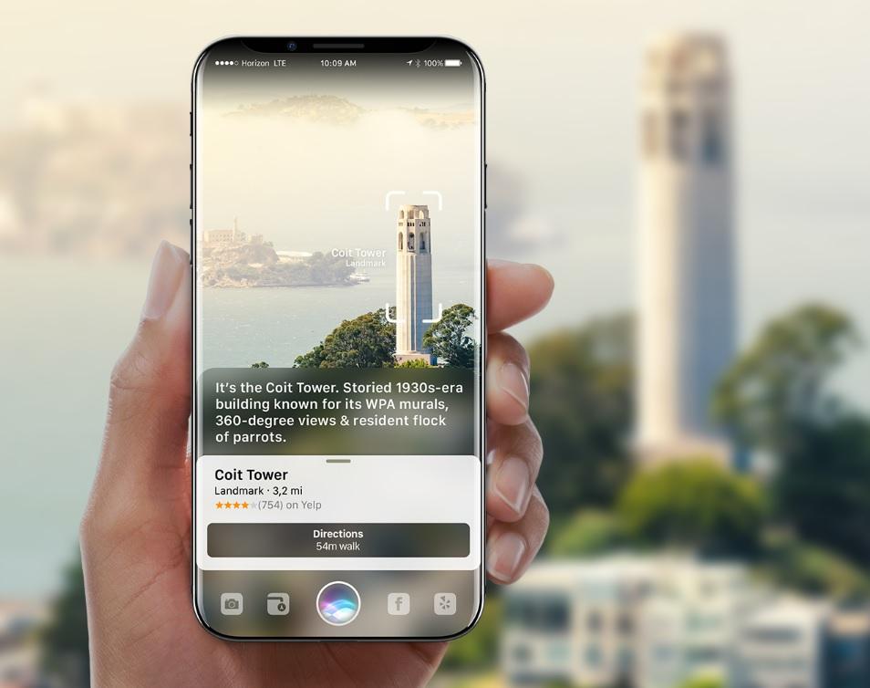 iPhone 8 render with Siri AR