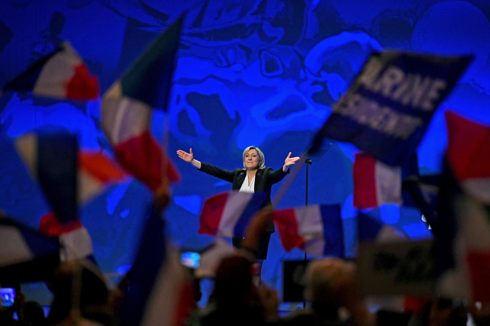 National Front Leader Marine Le Pen