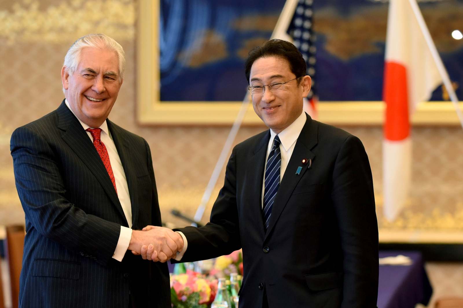 Tillerson tells NKorea not to fear yet hints at tougher tack
