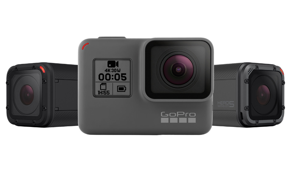 GoPro Hero 5 Black and Session