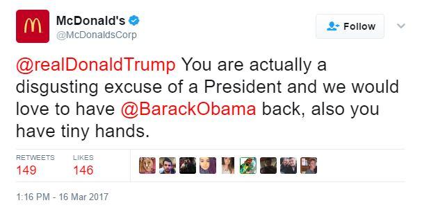 McDonald's Trump Twitter