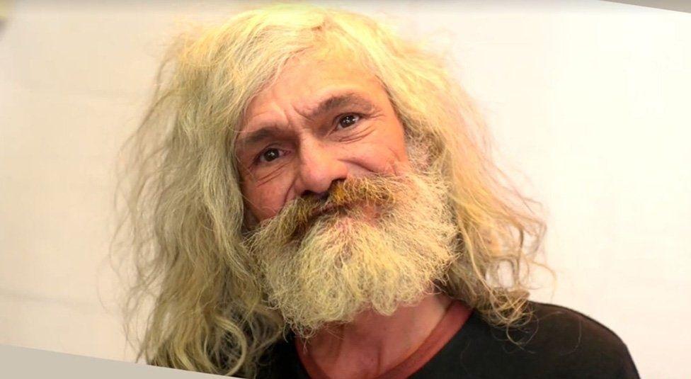 Homeless man's makeover video