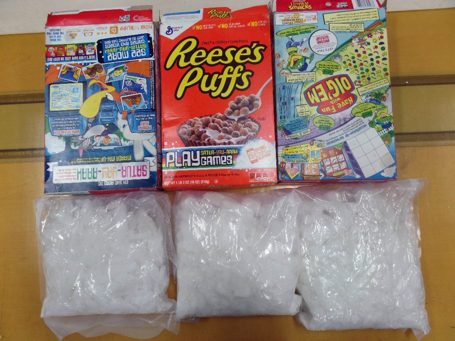 Crystal meth smuggling