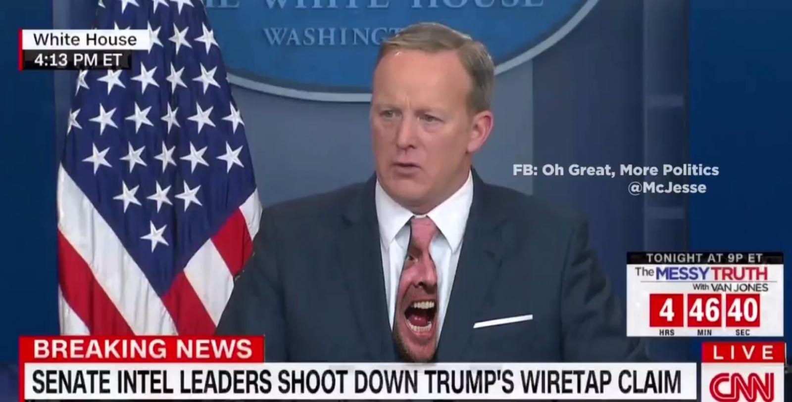 Sean Spicer green screen tie