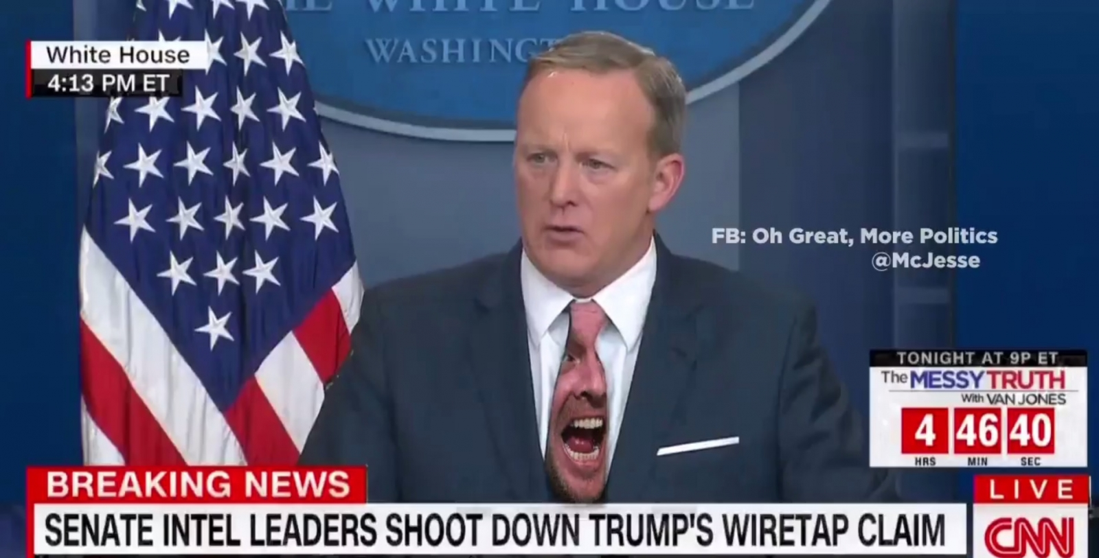 Sean Spicer green screen tie