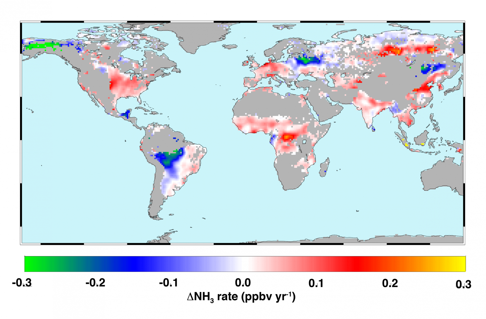 Ammonia world map