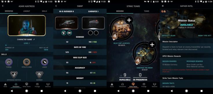 Mass Effect mobile app