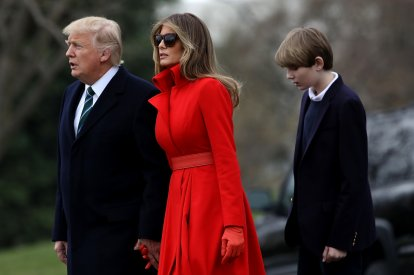Barron Trump and Melania Trump
