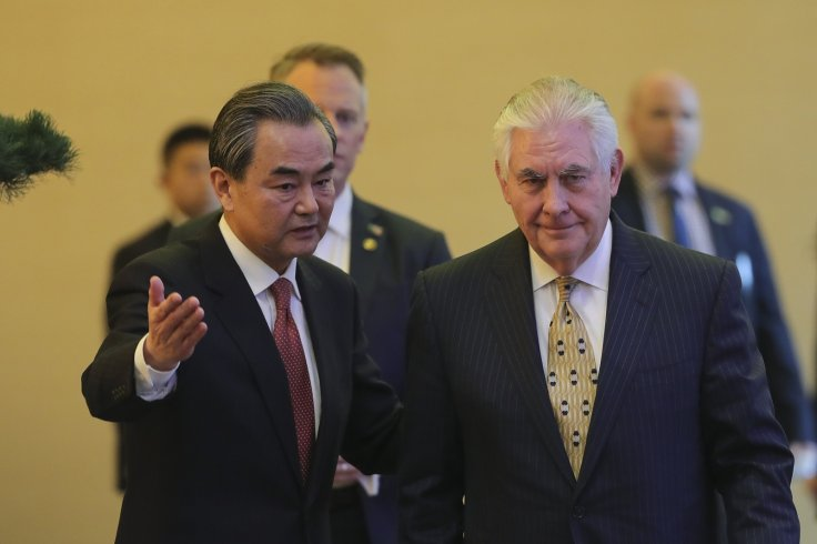 rex tillerson wang yi china