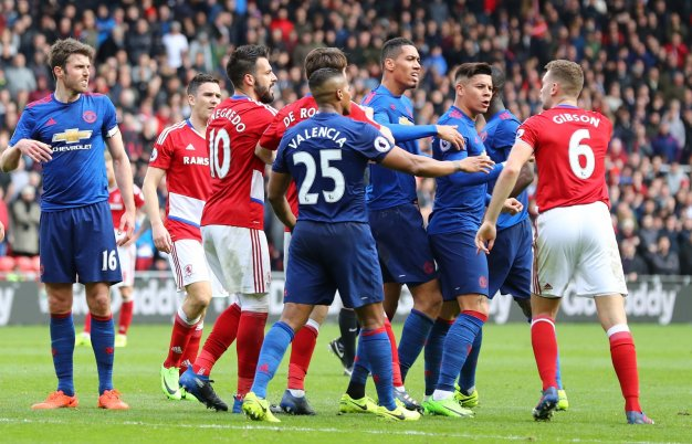 Middlesbrough vs Manchester United
