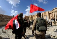 Syria soldiers Palmyra 2017