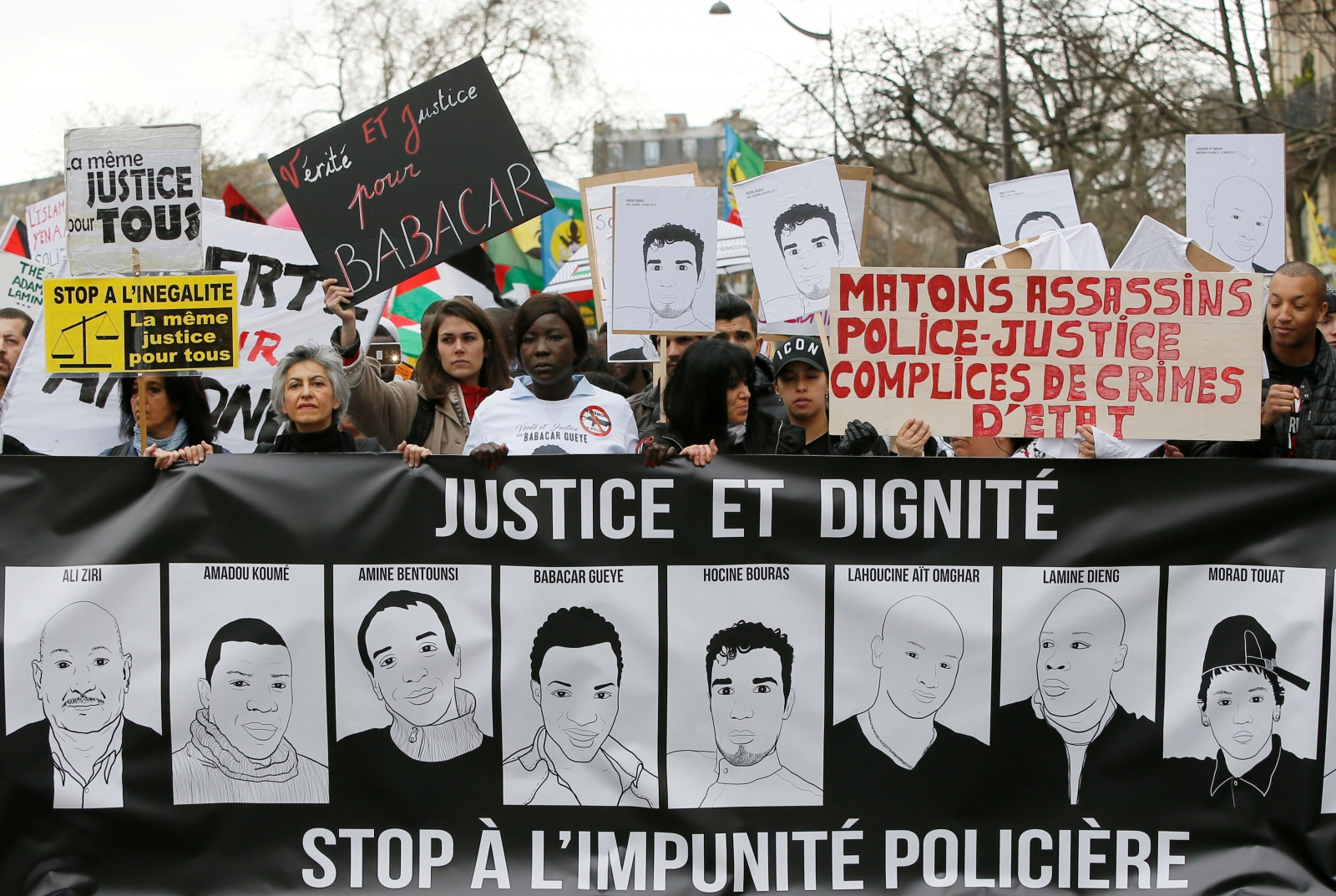 Anti-police brutality rally France