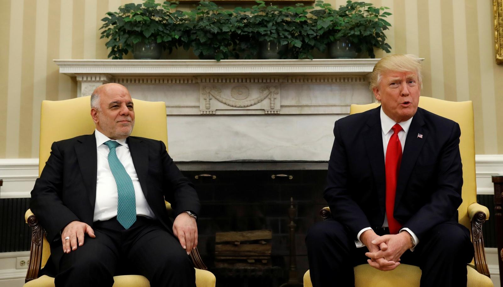 Haider al-Abadi, Donald Trump