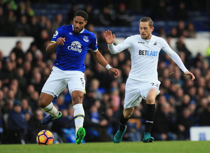Ashley Williams and Gylfi Sigurdsson