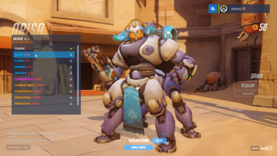 Overwatch Orisa dawn skin