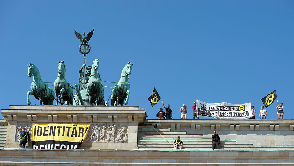 In August, 2016, identitarians scaled the Reichstagmonumentand