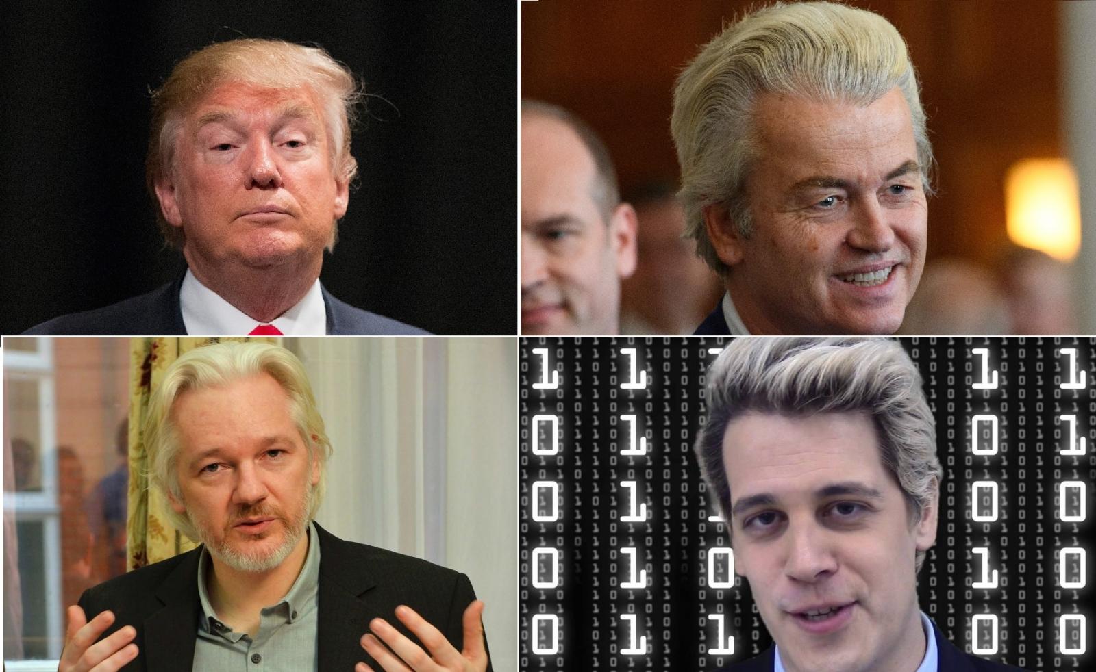 Trump Wilders Assange Milo