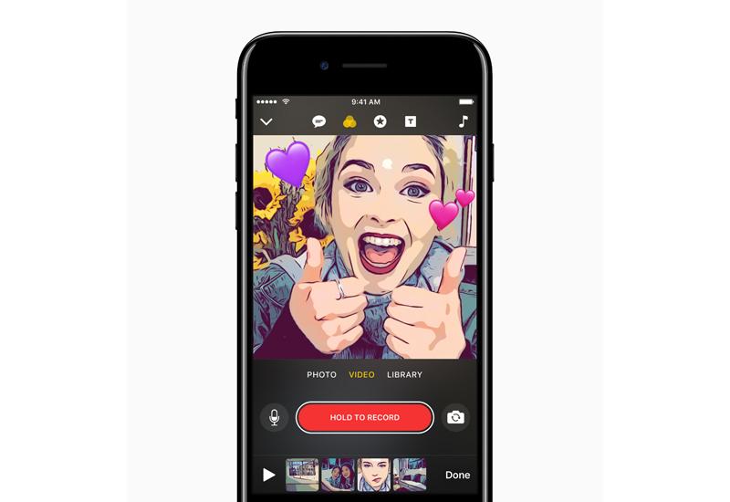 Apple Clips app in iPhone