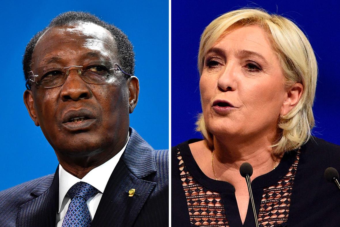 Marine Le Pen Idriss Deby