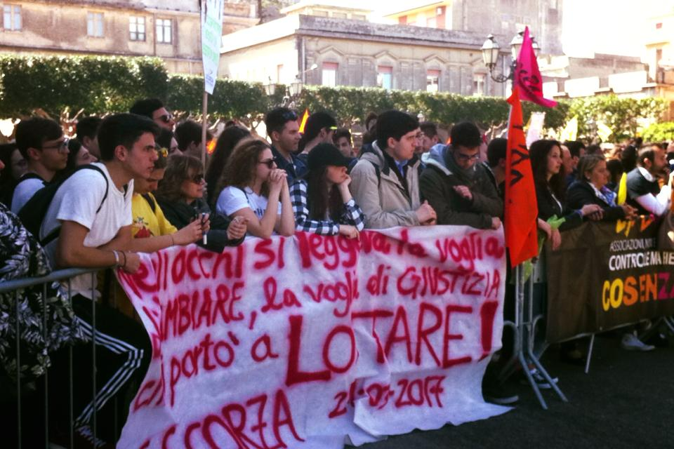 Anti-mafia rally in Locri