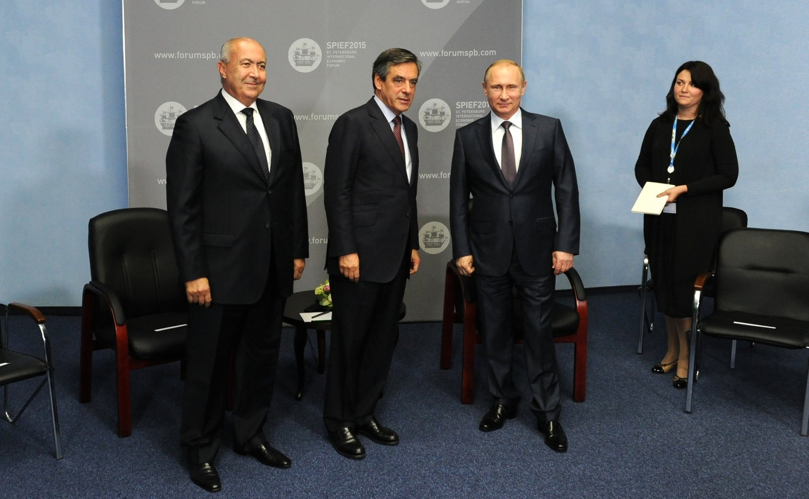 Fillon meets Putin at SPIEF 2015