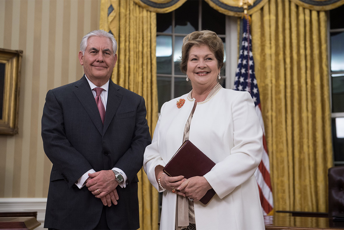 who is mrs tillerson  the person us secretary of state rex tillerson answers to