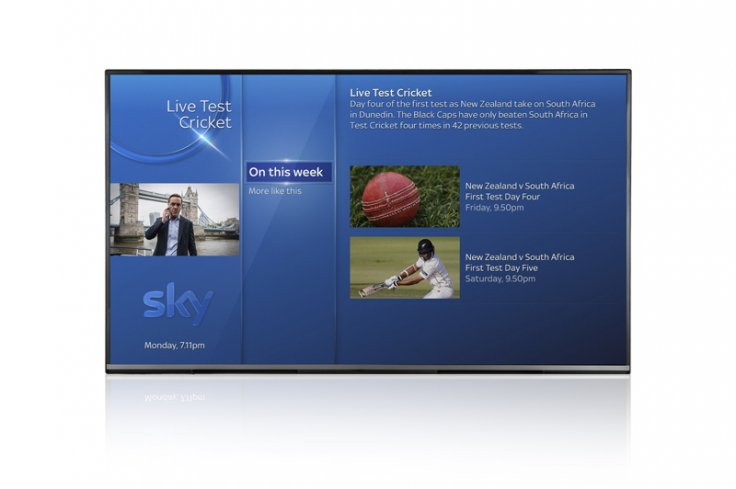 Sky Q voice search sports