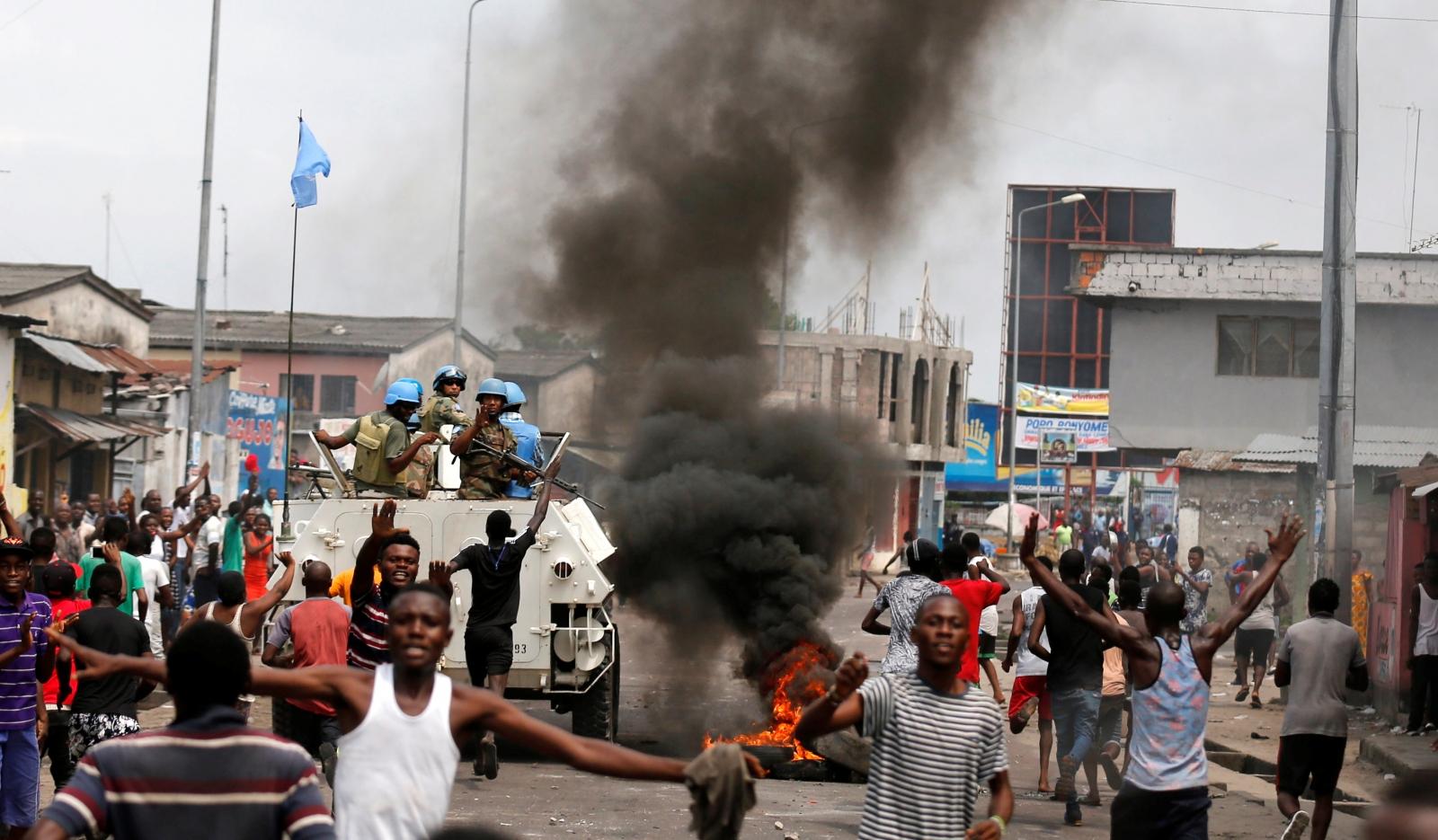 MONUSCO peacekeepers in Kinshasa