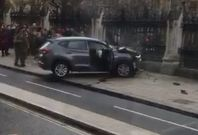 Car smashed into Parliament railings following 'terrorist incident'